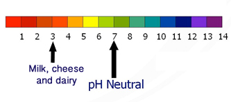 Image result for dairy ph scale